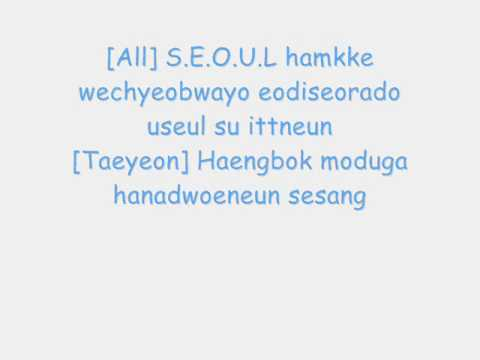 Seoul-SNSD & Super Junior Lyrics (English Translation In Sidebar)
