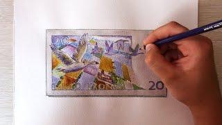 Двадцать шведских крон(Шведская крона – официальная валюта Королевства Швеция. На лицевой стороне банкноты достоинством в..., 2015-07-03T19:14:46.000Z)