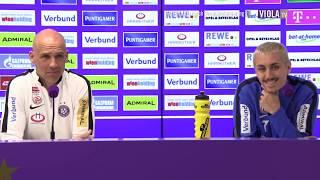 Pressekonferenz vor FK Austria Wien SCR Altach