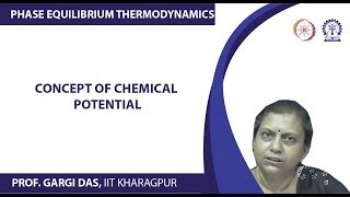 Concept of chemical potential