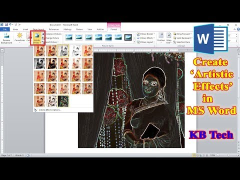 Create Artistic Effects In MS Word 2010 | KB Tech