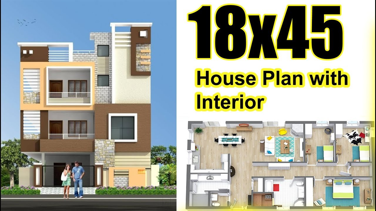810 Sq Ft House Plan With Interior  U0026 Elevation Also Car