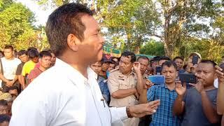 MLA  Premkumar Reang Visit Bru Displaced Peoples