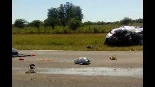 Tres muertos y una joven grave tras choque por Ruta 12