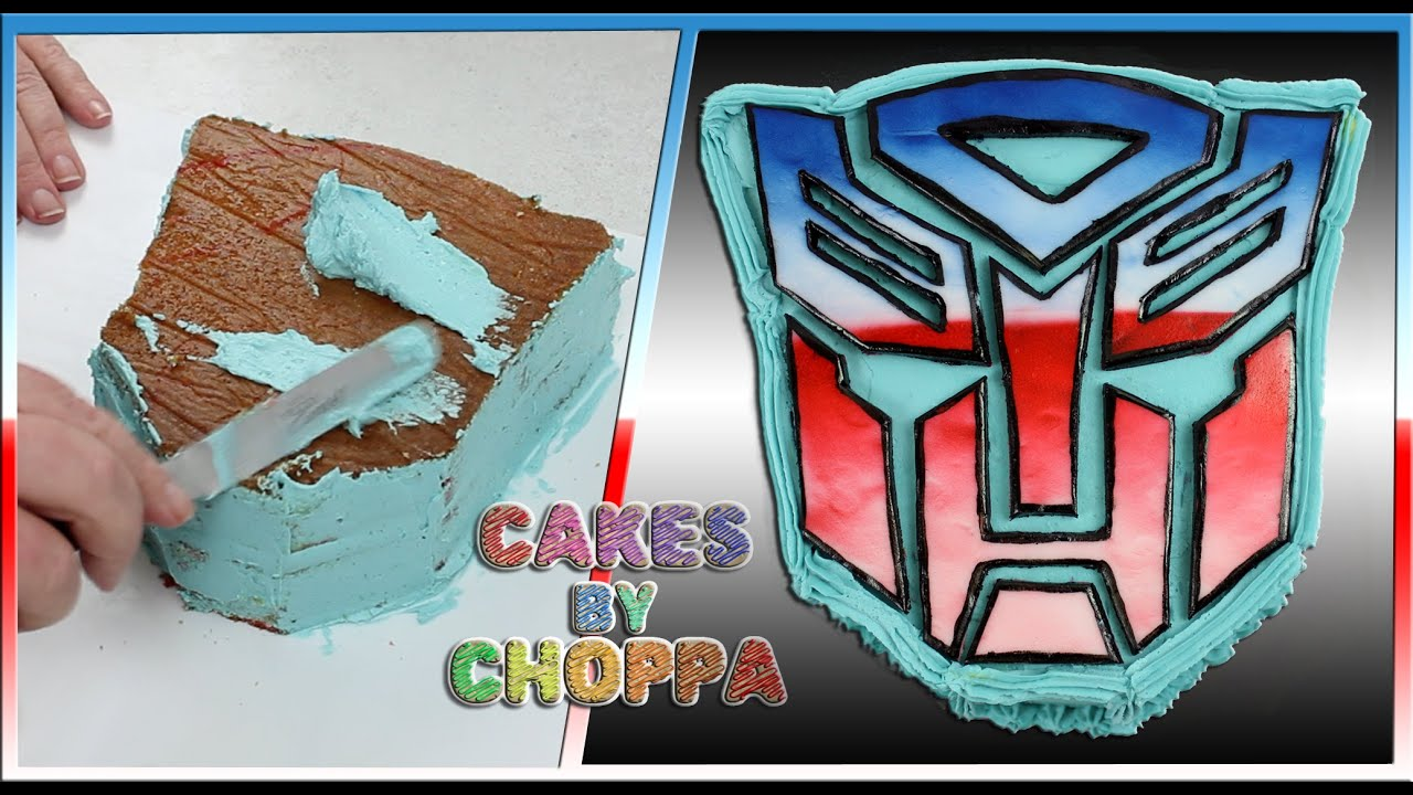 TRANSFORMERS Autobot Logo Cake How To YouTube