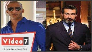 ياسر جلال يقبل رأس محمد رمضان فى حفل نايل دراما والسبب !!