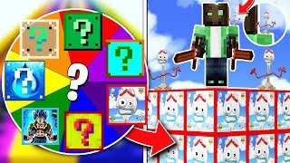 TURN THE ROULETTE OF LUCK AND WIN FORKY LUCKY BLOCK!! 💥😱 LUCKY BLOCKS MINECRAFT MOD