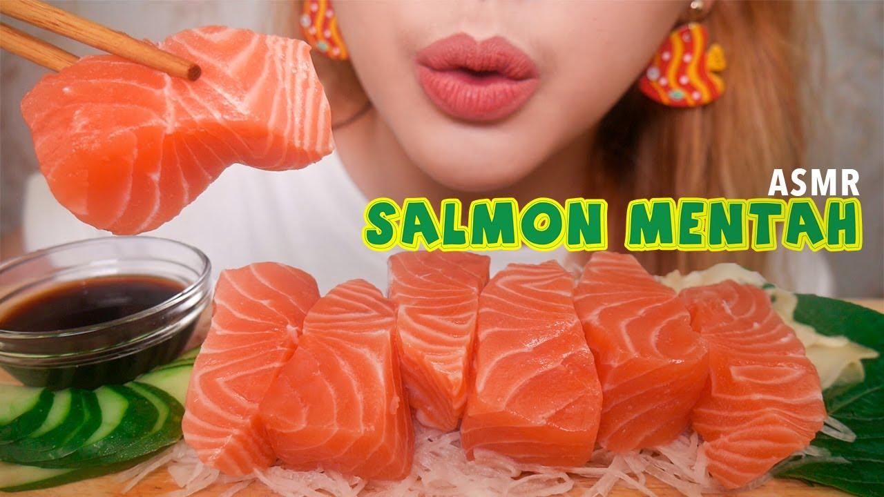 ASMR SALMON MENTAH | ASMR Indonesia