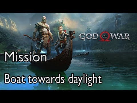 God Of War 4 Mission Path to the Mountain: Boat towards daylight