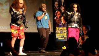 klingons gowron and martok sing with help from amazing klingon fan