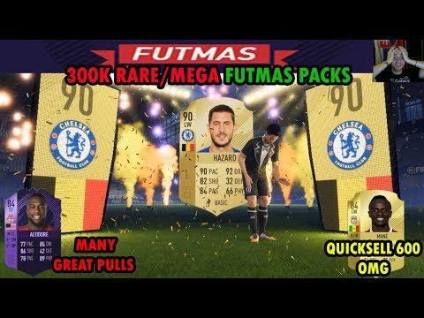 FIFA 18 FUTMAS PACKS OPENING   RARE MEGA PACKS   BEST PULL HAZARD 90 + QUICKSELL MANE 84 for 600 LOL