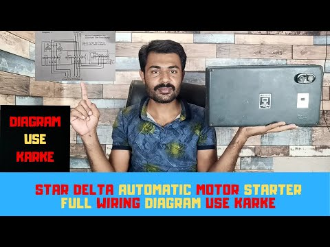 Automatic Star Delta Motor Starter Full Wiring L T Mk1 Type Youtube