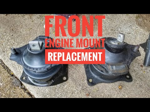 HOW TO REPLACE ACURA TL HONDA ACCORD TSX  FRONT ENGINE MOUNT TUTORIAL