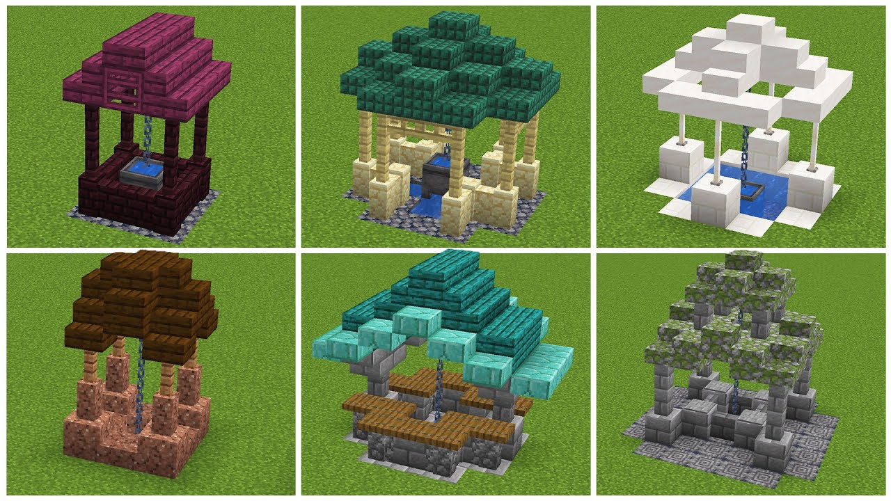 Well, Well, Well Some 7.76 Well Designs  Minecraft Tutorial