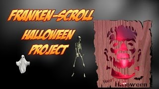 Halloween Woodworking: Project Frankenstein Silhouette Scroll Saw Pattern Using A Spiral Blade
