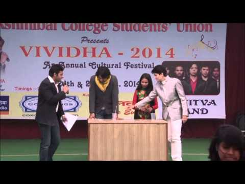 Anchor/Host Gaurav Devgan - Hosting Fest For Lakshmibai College - University of Delhi