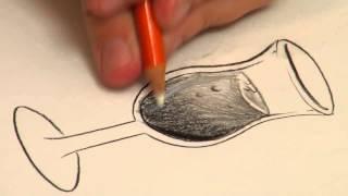 УРОКИ РИСОВАНИЯ - Как нарисовать Прозрачное Стекло(Теги: