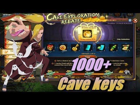 Naruto Online: 1000 + Cave Keys / 1000 + Bp Gain / 1000 Initiative Gain