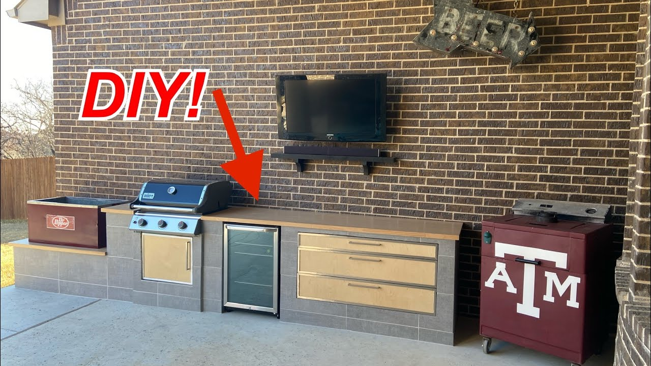 Outdoor Kitchen Build In 20 Minutes Using My Old Weber Gas Grill Youtube