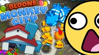 Bloons Monkey City - WORST FAIL EVER! - Bloons Monkey City Very Hard Failing #3