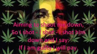 Bob Marley I shot the sheriff  image  lyrics