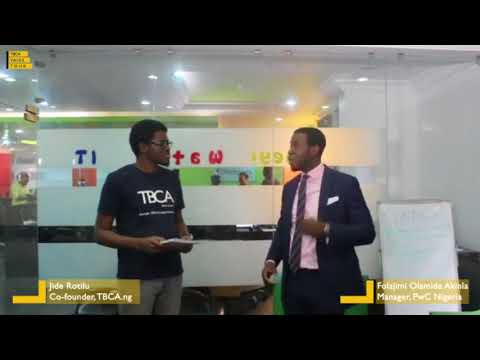 TBCAVAIDSTOUR (Session 6): Interview Session by TBCA with PwC's Folajimi Olamide Akinla
