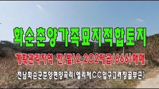 ?20-18[전남권부동산토지]화순춘양엘리체CC전(밭)(…