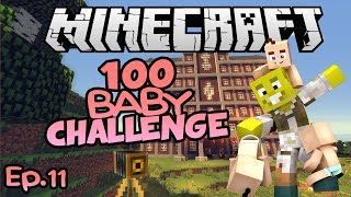 Famous Youtuber, Horses and Mystery! | Minecraft 100 Baby Challenge Ep.11