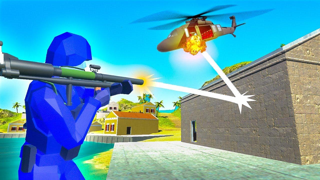Ravenfield but Every Shot RICOCHETS (Ravenfield Mod Gameplay)