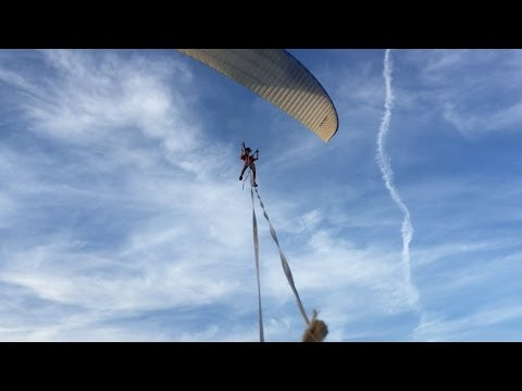 Paraglider Adventures #3 - Dirtbike Tow!