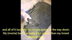 How to Install Ceramic Tile with the Old Fashioned Mortar Bed Method