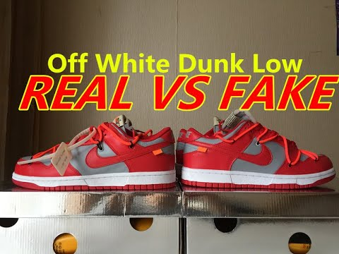 Real Vs Fake: Off White x Nike Dunk Low University Red