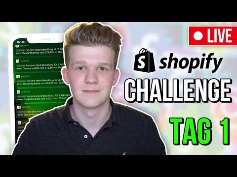 (TAG 1) POD Dropshipping Challenge   So baust du einen erfolgreichen Shopify Store in 2019 🔥