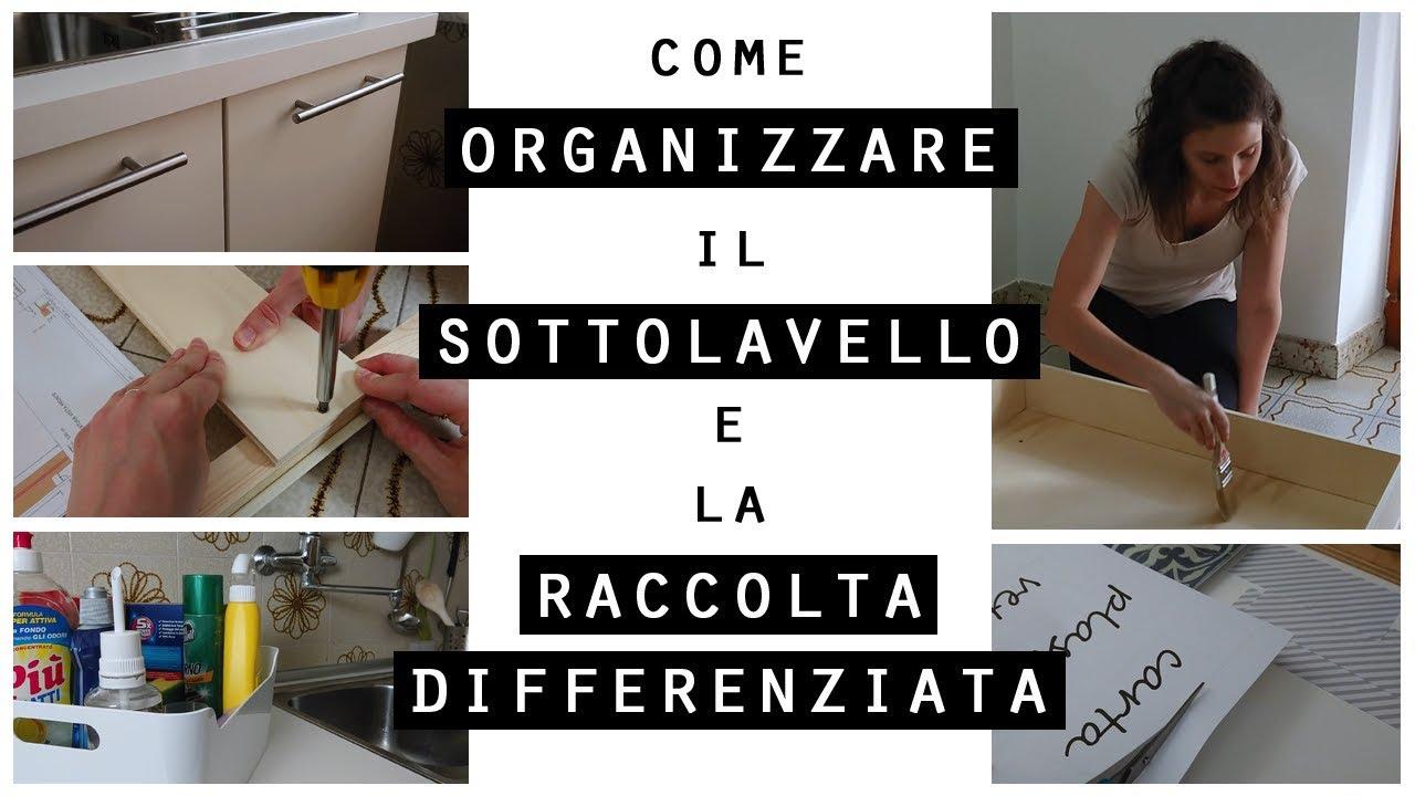 Cestini Raccolta Differenziata Casa come organizzare il sottolavello e la raccolta differenziata/idee per  organizzare casa