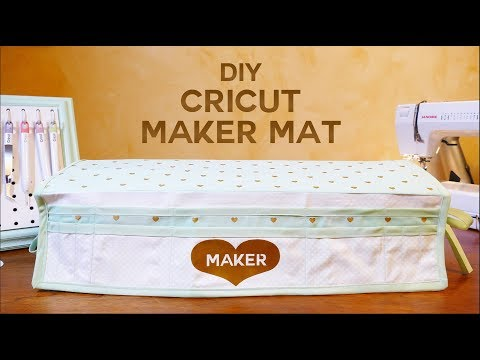 DIY Cricut Maker Mat - Tool Organizer & Dust Cover - Free Pattern!