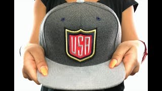 Team USA 'SHIELD SNAPBACK' Grey-Grey Hat by Mitchell and Ness