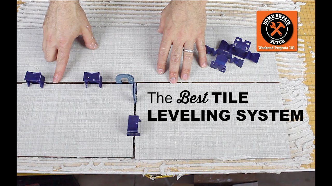 the best tile leveling system for bathroom tile by home repair tutor