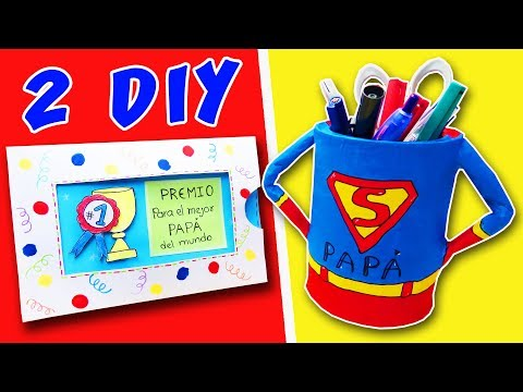 DIY FATHER`S DAY - GIFTS The World`s Better DAD - SUPER HERO | aPasos Crafts DIY