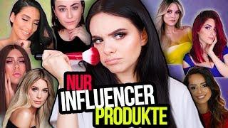 GANZES Makeup NUR mit Influencer/Youtuber Produkten! 🤔