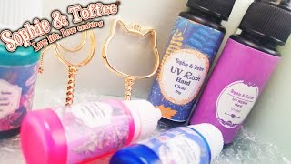 UNBOXING AND TESTING RESIN CRAFTING SUPPLIES Sophie and Toffee Elve's Box diy crafts supplies haul
