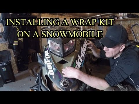 INSTALLING A DECAL (WRAP) KIT ON A SNOWMOBILE (FULL VERSION)