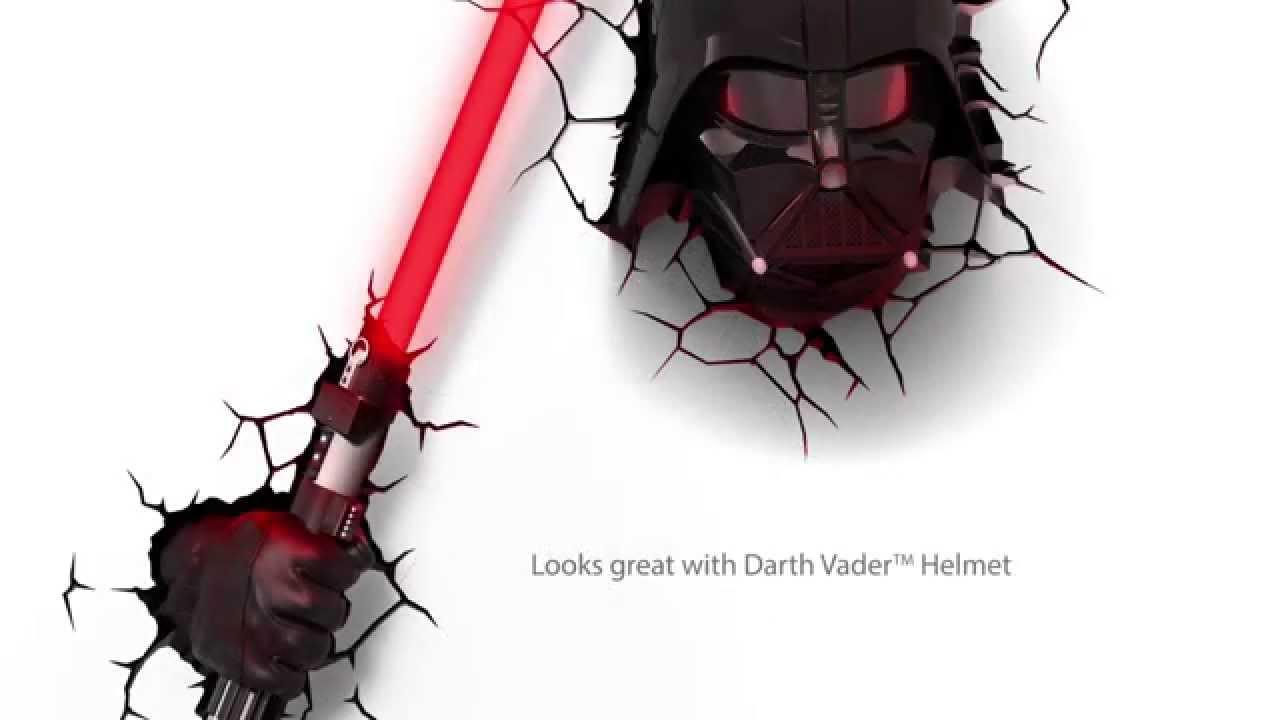 Darth Lightsaber™ Light Hand With Star Deco Vader™ Wars™ 3d Rj5q3A4L