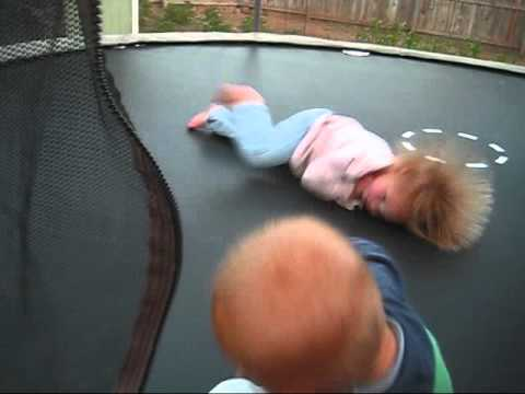On Trampoline And Static Electricity
