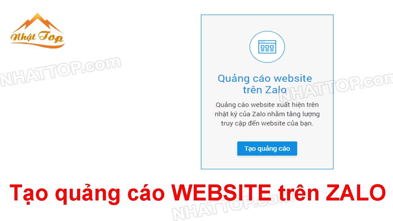 [NHẬT TOP SEO] Hướng dẫn tạo quảng cáo website trên zalo