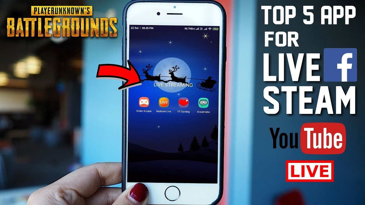 Top 5 Android App For Live Stream : PUBG Mobile- YouTube