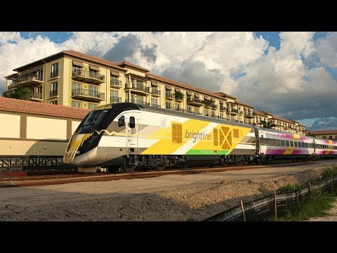 Brightline Passenger Train in South Florida!