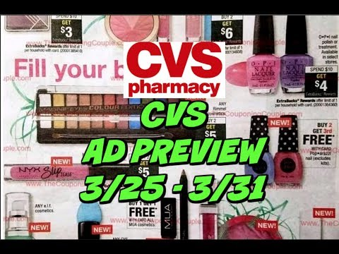 CVS EARLY AD PREVIEW FOR 3/25 - 3/31 | EASY FREEBIES!!!!