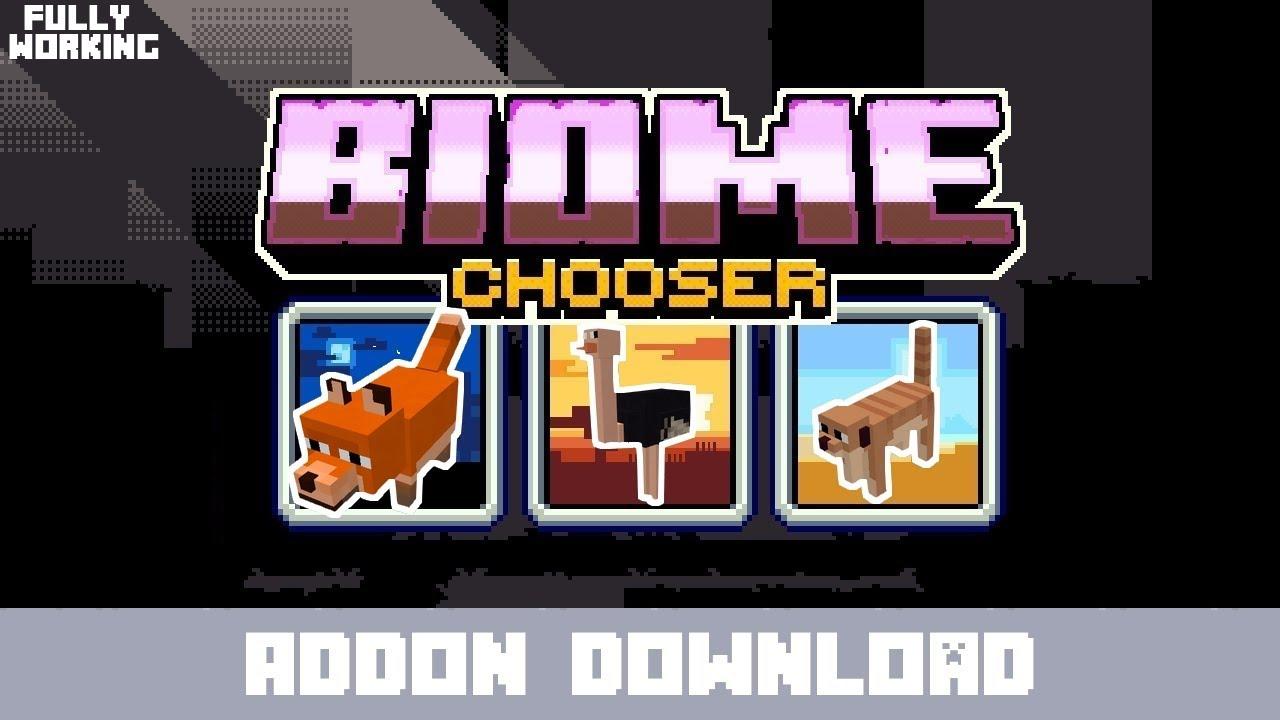 Biome Chooser Addon (Minecon18) (Concept!)   Minecraft PE