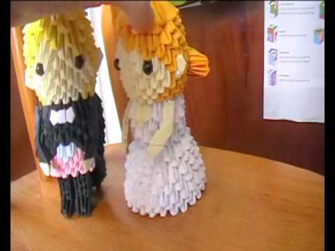 Bride And Groom Origami
