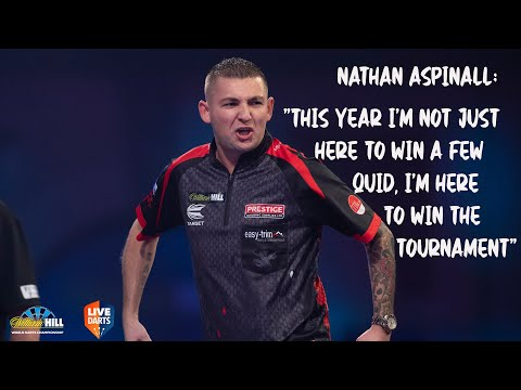 """Nathan Aspinall: """"This year I'm not just here to win a few quid, I'm here to win the tournament"""""""
